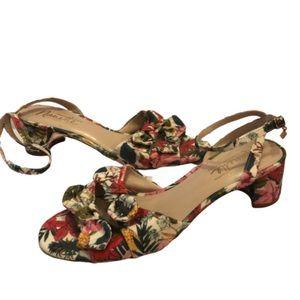 Nanette Lepore Danielle Floral Bow Block Heels 10